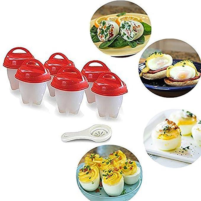 Bellagione - Juego de moldes de cocina para huevos (rígidos y ...