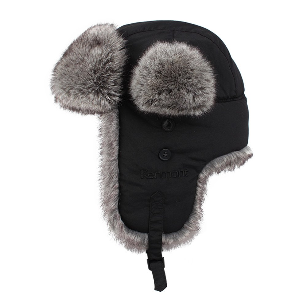 53865c2f0559b Kenmont Unisex Winter Earflap Cap Russia Trapper Hats Aviator Hat Ear Flap  Caps for Skiing