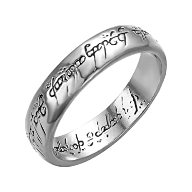 Yoursfs Lord Of The Rings Magic Tungsten Carbide Steel One Ring