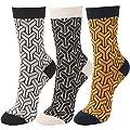 WOWFOOT Women's Jacquard-Knit Cotton Socks Lady Winter Full Fashioned Girl Hosiery