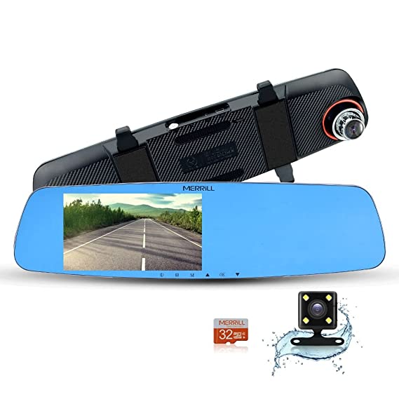 Review MERRiLL Dash Cam Dual