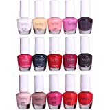 Nicole Miller Striped Mini Nail Polish Set - 15 Glossy and Trendy Colors
