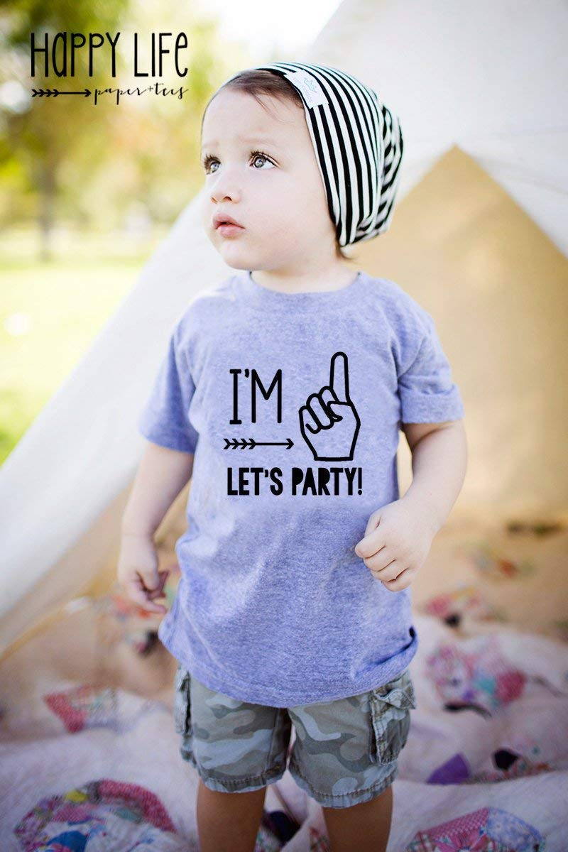 Amazon Custom Im One Lets Party First Birthday Shirt For Little Boys