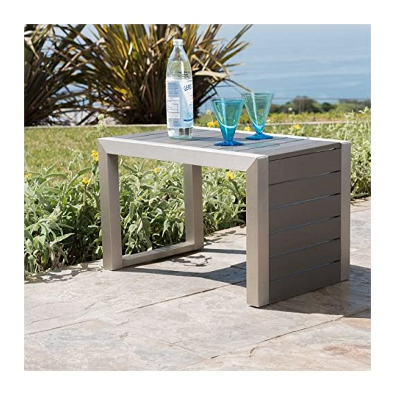 GDF Studio Crested Bay Patio Furniture ~ Outdoor Aluminum Patio Chairs with Side Table (Chat Set)(Khaki/Natural) - INCLUDES: Two (2) Aluminum Outdoor Chairs and One (1) ALuminum Outdoor Side Table ENJOY LIFE! ~ Spending Time Outside on Your Backyard Patio is One of Life's True Pleasures, Sitting Quietly Reading a Book, or Enjoying the Company of Family and Friends, Your New Outdoor Conversation Set Will Fast Become a Favorite Place to Sit. DURABLE OUTDOOR ALUMINUM FRAME ~ Provides Rust Resistance and Durability for Years of Enjoyment. Live in a Warm Humid Climate? (Florida We're Looking at You) Then This is the Patio Chair Set For You. No Rust Stains on The New Deck or Patio - patio-furniture, patio, conversation-sets - 61sOq%2BzhAiL. SS570  -