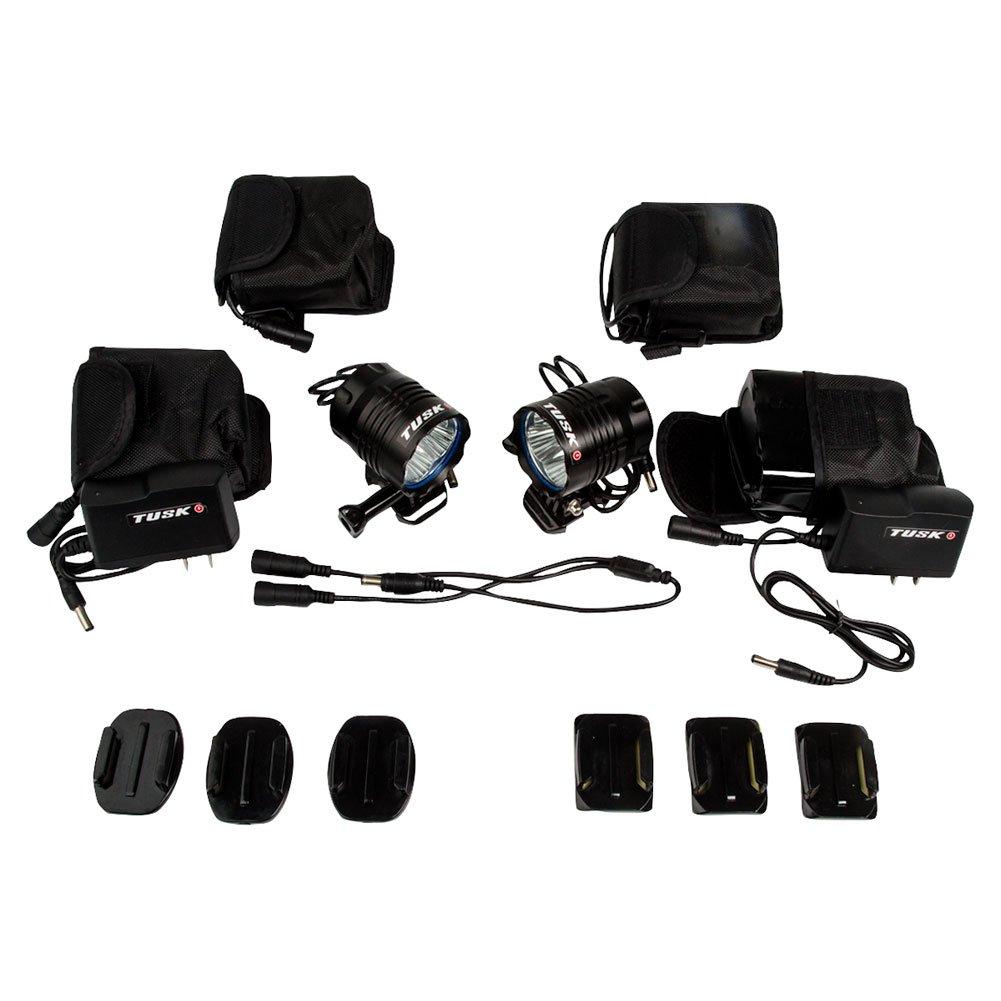 Tusk Ultra Bright LED Helmet Light Kit- 2 LIGHTS/4 BATTERIES