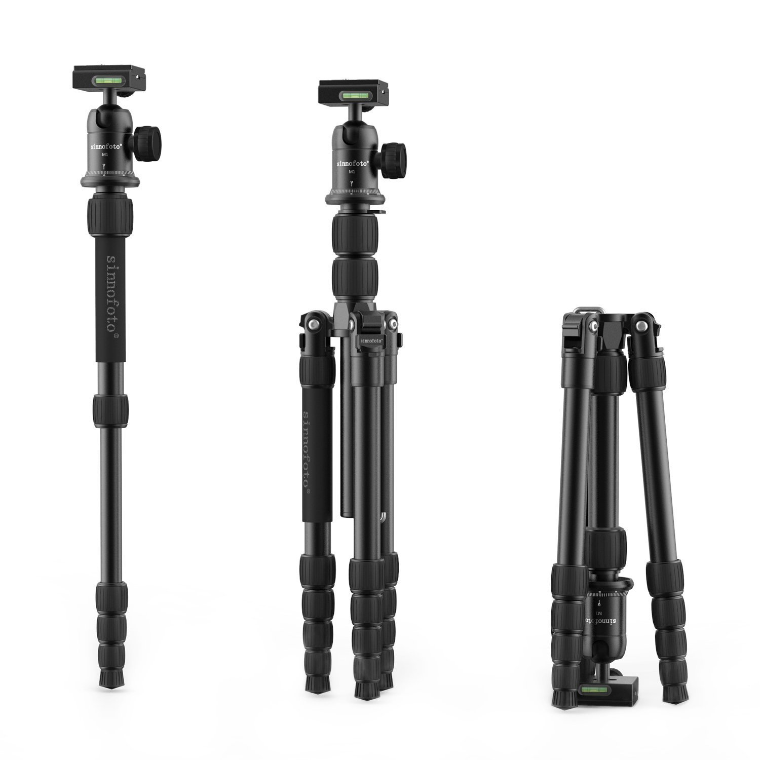 Camera tripod,Sinnofoto M2522 55.9'' Aluminum Portable Travel Lightweight Tripod Monopod+ 1/4'' Quick Release Plate on 360 Degree Tripod Ball Head For DSRL Canon Nikon Sony Fuji Olympus Sigma