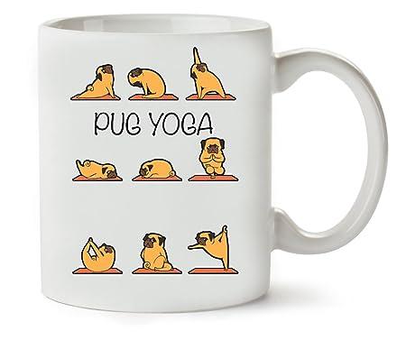 MugWorld Pug Yoga Theme Funny Series Dogs Puppies Asanas ...