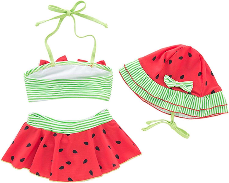 JIANLANPTT Toddler Kids Baby Girls Halter Swimsuit Cute Fruit Design Bikini Set