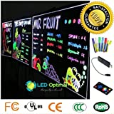 LED Optimal LED Writing Board with Remote Control (A Complete Set-6 Fluorescent Marker Pens Included), 32''x24''