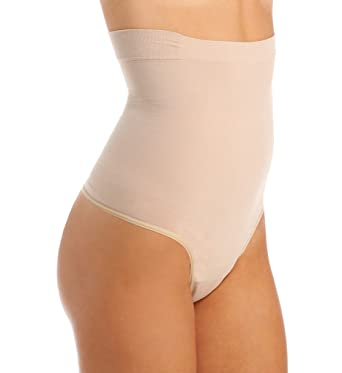 382974ab5fc Flexees by Maidenform Women s Fat Free Dressing Hi Waist Thong at Amazon  Women s Clothing store  Waist Shapewear