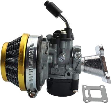 GOOFIT Tuning Vergaser mit Luftfilter f/ür 2 Stroke 37cc 39cc Wassergek/ühlt MTA4 Pocketbike