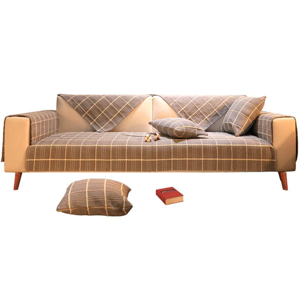 Furniture Accessories Sofa Cushion Cushion Floor mat Carpet Four Seasons Sofa Cushion coarse Cloth Cotton Cushion Modern Leather Sofa Cover Towel Cover (Color : Gray, Size : 70180cm)