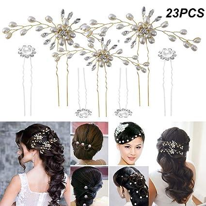 InnoBase Accessori Forcina Spille Clip Perni di per capelli da sposa  Fermagli per capelli con strass afe02cf069ef