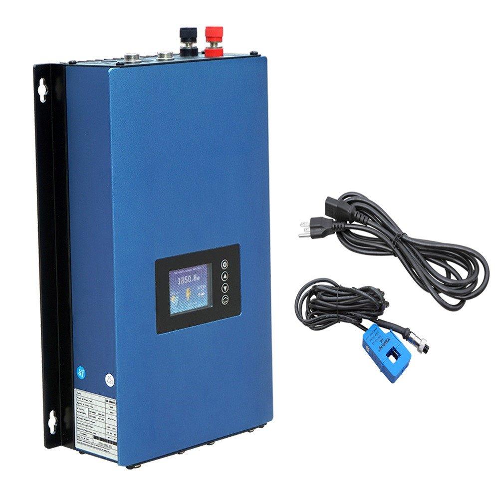 ECO-WORTHY 1000W 1KW MPPT Solar Grid Tie Inverter Power Limiter DC 22 to 65V Solar Input AC 110V/240V Auto Switch PV System by ECO-WORTHY