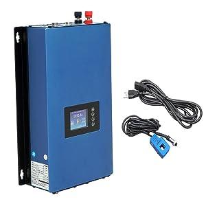 ECO-WORTHY 1KW Auto Switch MPPT Solar Grid Tie Inverter Power Limiter PV System DC 22 to 65V