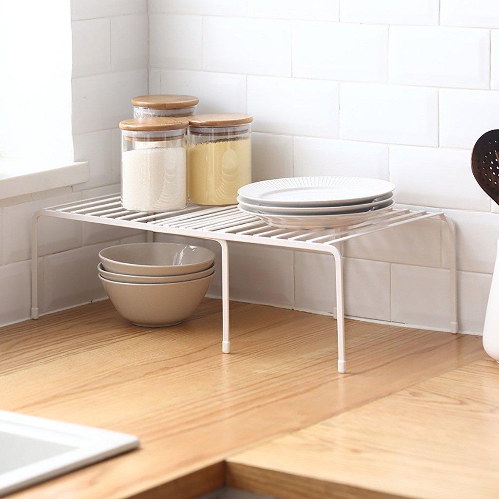 Gewürzregal Küche Regal Metall Gewürze Küchenzubehör Regale Single Layer Boden Verstellbare Multifunktions-Küche Finishing Rack