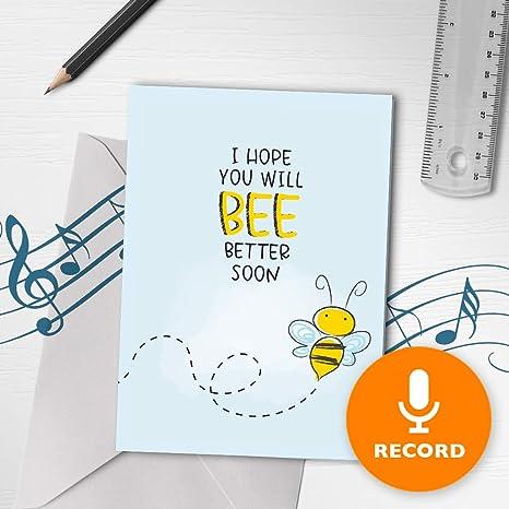 Amazon.com: Tarjeta de felicitación con música, con texto en ...