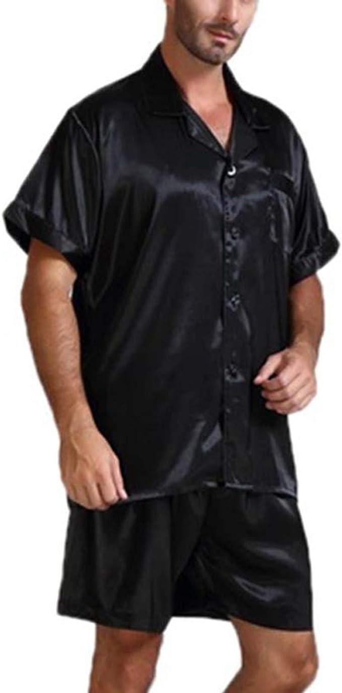 Moda para Hombre de Seda satén Pijamas Establece Ropa de ...