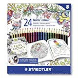 STAEDTLER 185 C24JB Coloring Pencils, Exclusive Johanna Basford Adult Coloring Edition - Assorted, Pack of 24