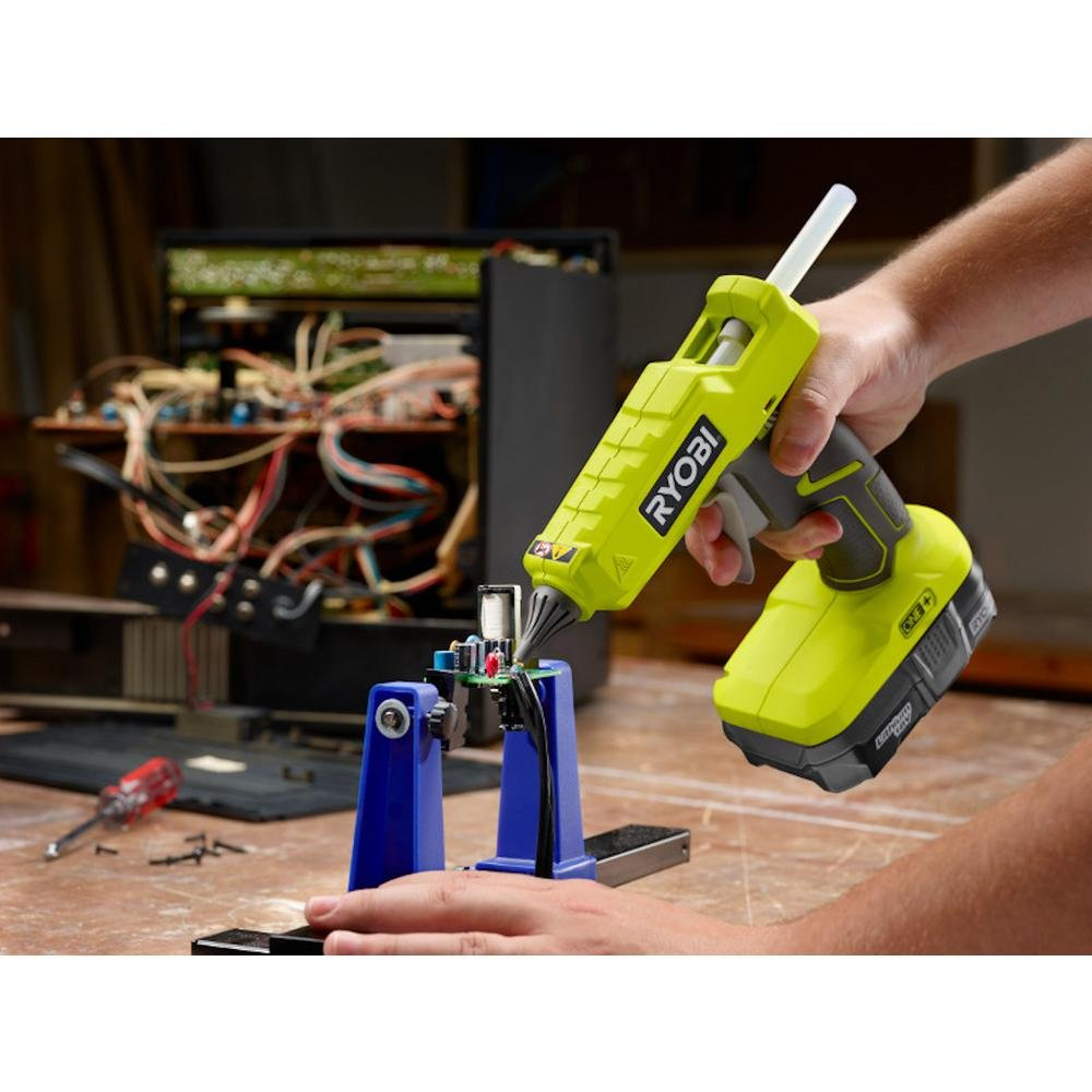 Ryobi 18-Volt ONE+ Cordless Full Size Glue Gun with Charger and 18-Volt ONE+ Lithium-Ion Battery (Bundle) by Ryobi (Image #4)