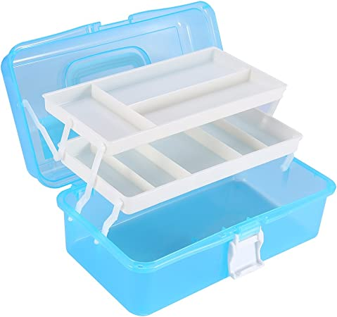 Plastic Sewing Painting Hardware Tools Storage Box Case Home Organizer Pink