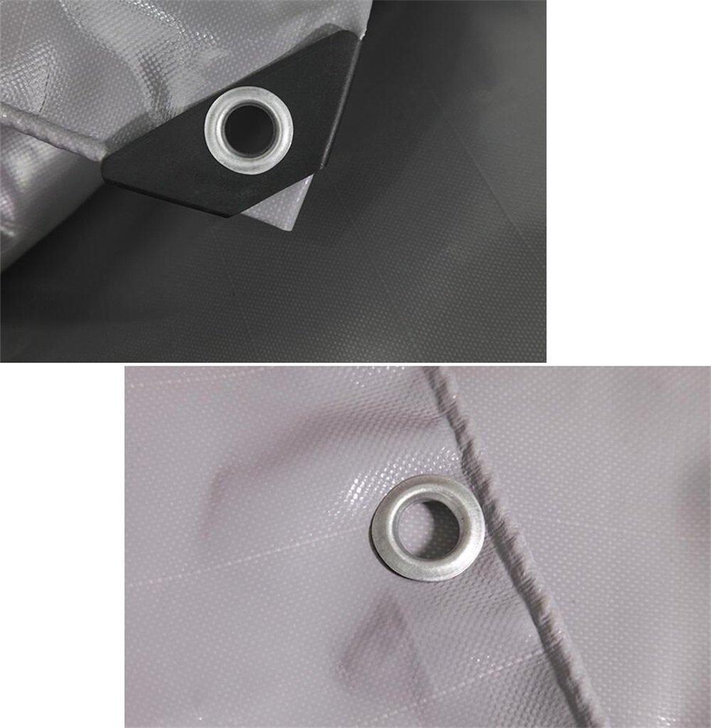 WSGZH Cubierta De Acampar Al Aire Libre Libre Libre Gris Cubierta De PVC Resistente Al Agua De Lona Impermeable - 100% Impermeable Y Resistente A Los Rayos UV - 580 G / M2 - Espesor 0.5 Mm (Tamaño : 2MX2M) 286402