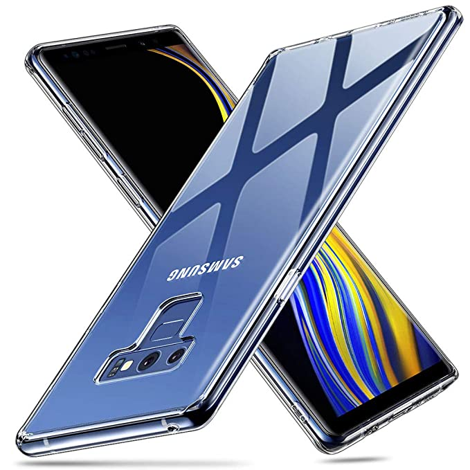 on sale 261a7 21b44 ESR Glass Case for Galaxy Note 9, 9H Tempered Glass Back  Cover[Scratch-Resistant]+Soft Silicone Bumper Compatible for Samsung Galaxy  Note 9, Clear