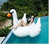 Gilt years Toys Gigantic Giant Swan Pool Float -74 Inch Inflatable Ride-On Pool Toy - Outdoor Swimming Pool Large Floatie Lounge For Adults & Kids
