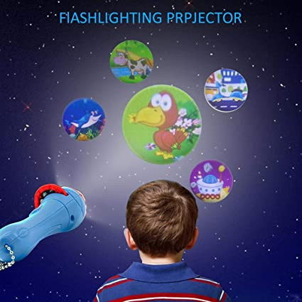 Baby Sleeping Story Projector Flashlight Children Projection Luminous Toy Lamp