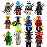 New 12 Custom Minifigures Set Lots Ghost Yang Nya Zane Llyod Kai lE go