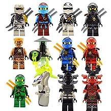 New 12 Custom Minifigures Set Lots Ghost Yang Nya Zane Llyod Kai lE go