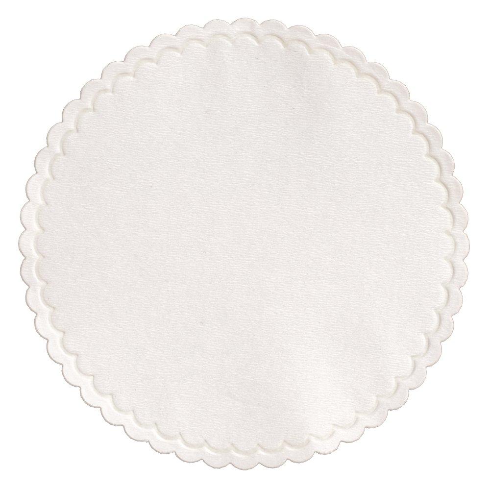 Hoffmaster 876075 Cellulose Coaster, 4'' Diameter, White (Case of 1000)