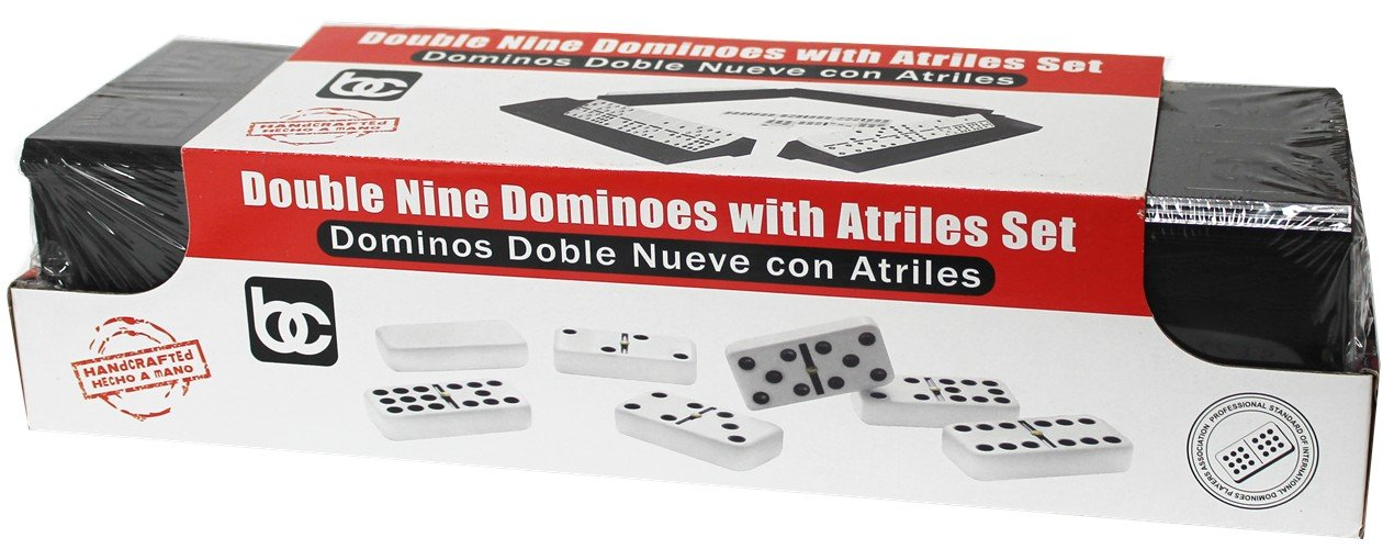 Domino Set Double NIne Includes 4 Holders.