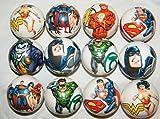 Batman, Superman, Justice League DC Superhero Figure Soft Foam Ball Toys Collection of 12 by Super Hero