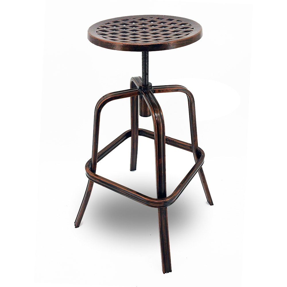 Magnificent Set Of 4 Neptune Rotating Adjustable Height Cast Aluminum Outdoor Chair Bar Stool Andrewgaddart Wooden Chair Designs For Living Room Andrewgaddartcom