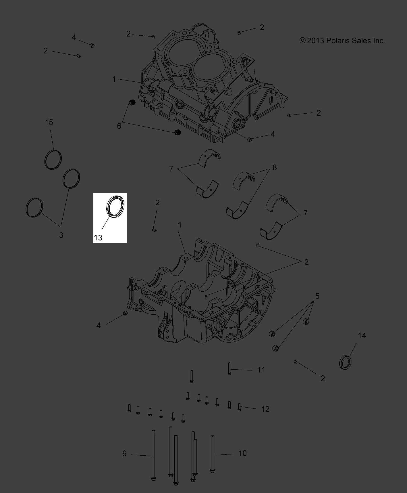 Polaris Seal Crankshaft 55.7Mm 3610152 New OEM