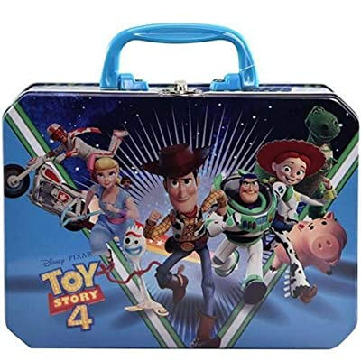 "UPD OLCT Toy Story 4 Deluxe Rectangle Plastic Handle Tin Box, 8.5"" x 2.5"" x 6.25"", Blue: Kitchen & Dining"