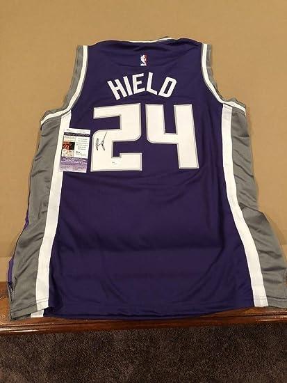 7ada82fa349 Buddy Hield Signed Autograph Custom Sacramento Kings Jersey With JSA  Certified NBA Star