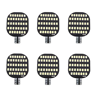 Grv T10 921 194 C921 LED Light Bulb 38-2835 SMD Super Bright Lamp DC 12V 13V 2.5Watt For Car Boat RV Trailer Camper Motorhome Ceiling Dome Interior Lights Cool White Pack of 6: Automotive