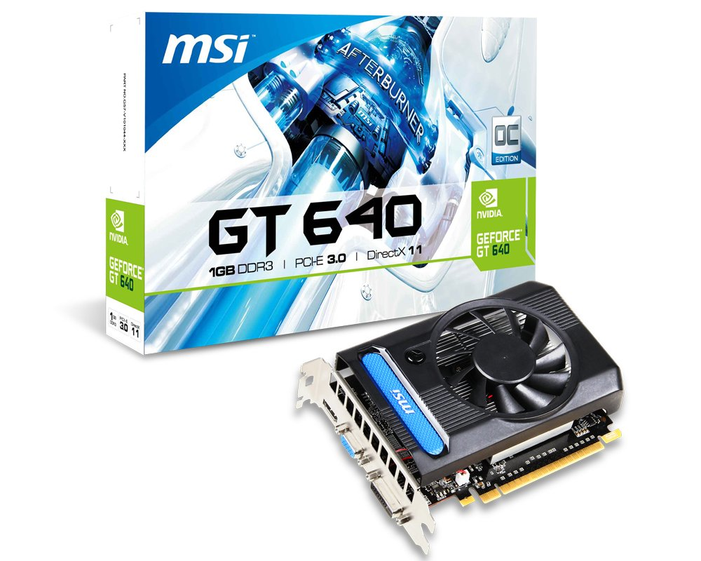 MSI N640 1GD3 - Tarjeta gráfica Nvidia Geforce GTX 640 (902 ...