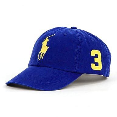 b969d291318533 Ralph Lauren Polo Men's Hat Ball Cap Royal Blue with Big Gold Pony ...