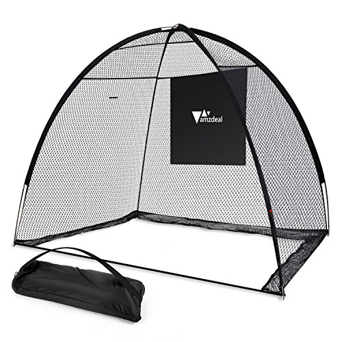 Amzdeal Golf Practice Net Golf Driving Hitting Net for Backyard Indoors Outdoors Golf Cage Trainging Aids with Target Sheet by Amzdeal