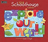 LANG - 2018 Wall Calendar - ''Schoolhouse'', Artwork by Susan Winget - 12 Month - Open 13 3/8'' X 24''