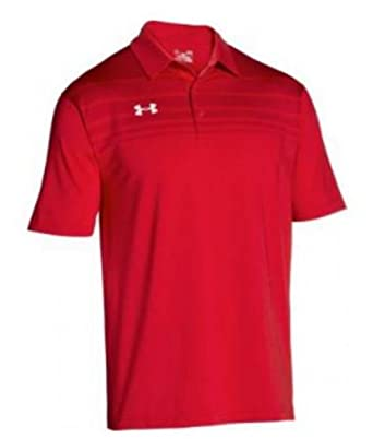 4b5292d7c Under Armour Victor Polo Shirt Men's UA Short Sleeve Golf Shirts (Red, ...