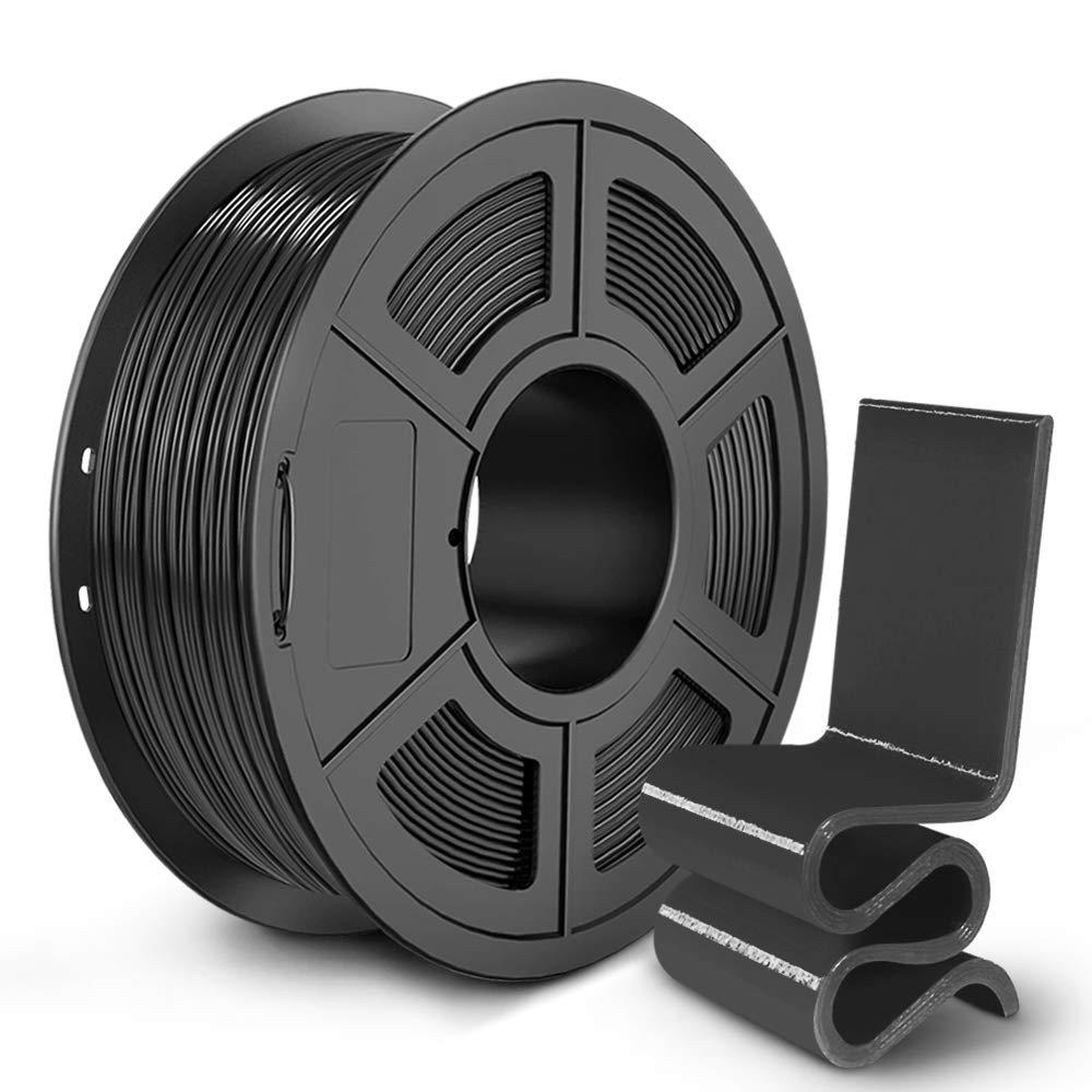 Pack of 2 PETG Filament 1.75 SUNLU 2KG PETG 1.75mm of MasterSpool Fit FDM 3D Printer 1KG Spool PETG Black+Black