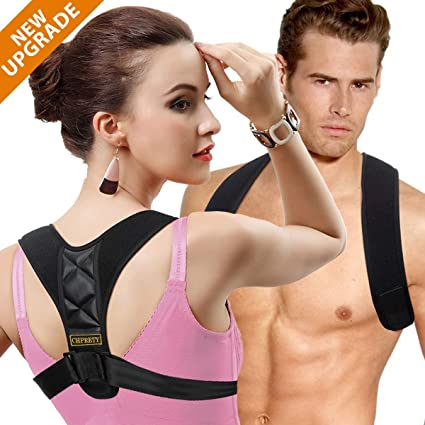 f68bbfd44c2 TDH Posture Corrector Women Men- Back Clavicle Support Brace Neck Pain  Relief Upper Shoulder Posture