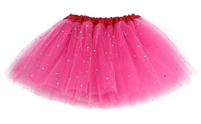 c954d5a94751 mioim Kids Girls Sequin Bling Stars Tulle Rock Tutu Petticoat Tutu ...