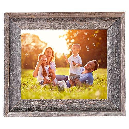 BarnwoodUSA Rustic 11x14 Inch Signature Photo Frame - 100% Reclaimed Wood, Weathered Gray by BarnwoodUSA (Image #5)