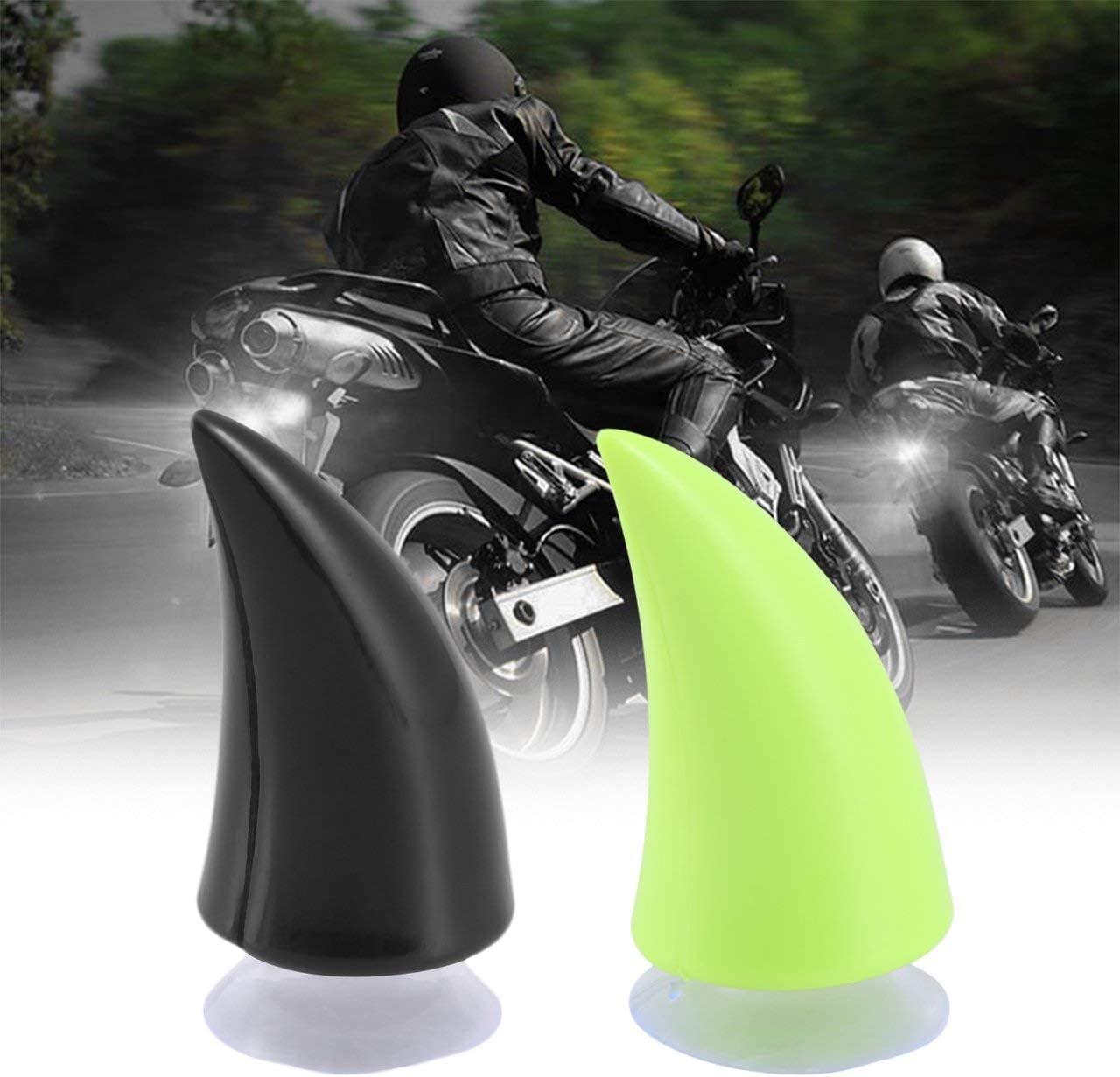 ITjasnyfall Nero Casco da Moto Corno Diavolo Corno da Demone con Ventosa Motocross Decorazione Protettiva Integrale Accessori Auto