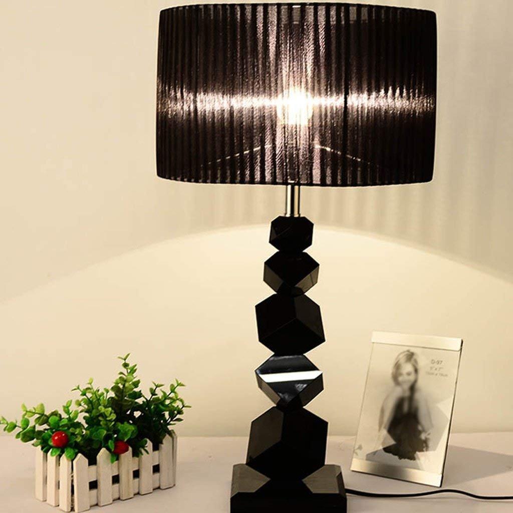 CN Tischlampe Modern Simple schwarz schwarz schwarz Crystal Schlafzimmer Zimmer Nachttischlampe Creative Jane Europäische Lampe B07JX7PN12   Bekannt für seine gute Qualität  cddd20